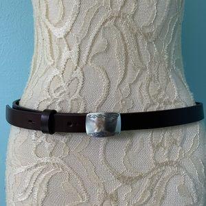 Eddie Bauer Size Large Brown Leather Belt